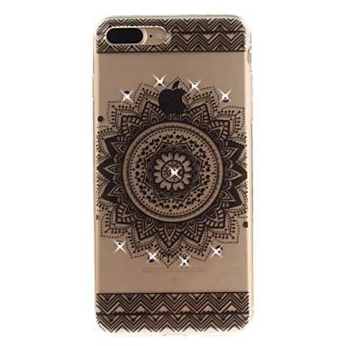 Pentru iphone 7 7 plus 6 6s plus 5 5s caz acoperă datura flori model hd pictat burghiu tpu material imd proces caz penetrare mare telefon