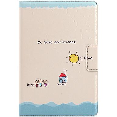 Voor appleipad mini 1 2 3 case cover met standaard auto slaap / wake flip magnetisch patroon full body case cartoon woord / zin hard pu