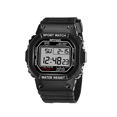 Heren Polshorloge Modieus horloge Sporthorloge Kwarts Plastic Band Informeel Zwart