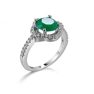 Damen Ring Smaragd Einzigartiges Design Modisch Euramerican Zirkon Smaragdfarben Aleación Schmuck Schmuck Für Hochzeit Besondere Anlässe