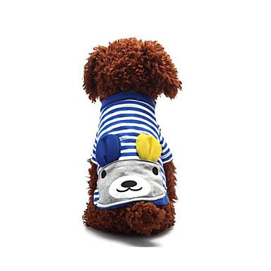 Câine Tricou Îmbrăcăminte Câini Casul/Zilnic Sport Modă Dungi Rosu Albastru Costume Pentru animale de companie