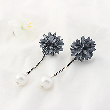 Pentru femei Cercei Picătură Imitație de Perle Euramerican Modă Aliaj Floare Bijuterii Zilnic Costum de bijuterii