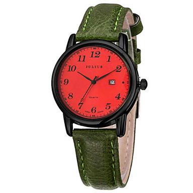 Dames Modieus horloge Japans Kwarts Kalender Waterbestendig Leer Band Informeel Zwart Bruin Groen