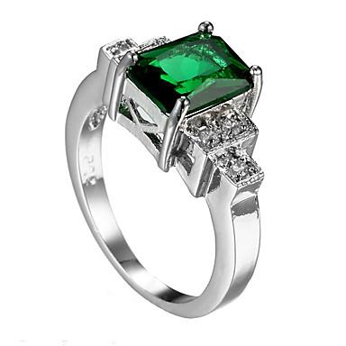 Herrn Ring Smaragd Einzigartiges Design Modisch Euramerican Modeschmuck Zirkon Smaragdfarben Aleación Schmuck Schmuck Für Hochzeit