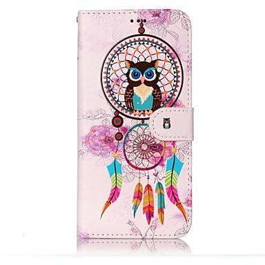 hoesje Voor Samsung Galaxy S8 Plus S8 Portemonnee Kaarthouder met standaard Flip Reliëfopdruk Patroon Volledige behuizing Uil Dromenvanger