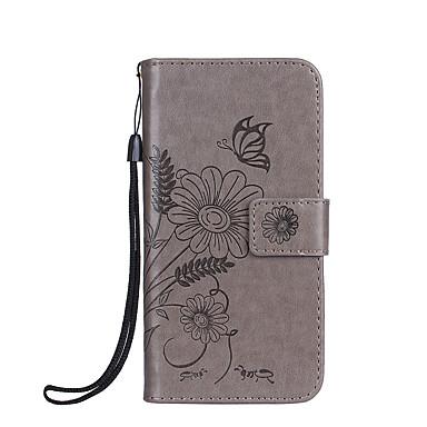 Für Telefon 7 7 plus Fall Abdeckung Kartenhalter Brieftasche geprägt Ganzkörper Fall Blume Schmetterling hart PU Leder Fori 6s 6 plus 6s 6