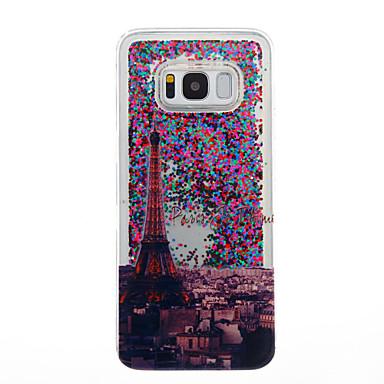 غطاء من أجل Samsung Galaxy S8 Plus S8 سائل متدفق شفاف نموذج غطاء خلفي شفاف برج ايفل بريق لماع ناعم TPU إلى S8 S8 Plus S7 edge S7 S6 edge