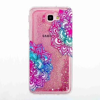 Hülle Für Samsung Galaxy J7 Prime J5 Prime Mit Flüssigkeit befüllt Muster Rückseite Blume Weich TPU für J7 Prime J7 (2016) J5 Prime J5