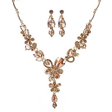 Pentru femei Seturi de bijuterii Acrilic Modă Euramerican Petrecere Aliaj Floare 1 Colier 1 Pereche de Cercei