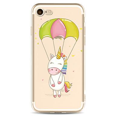 Voor apple iphone 7 7 plus 6s 6 plus case cover cartoon patroon geschilderd hoge penetratie tpu materiaal zachte case telefoon hoesje
