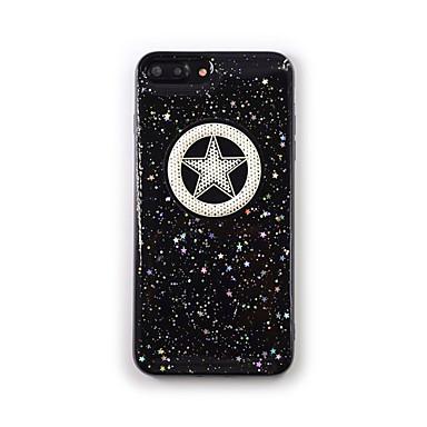 Hülle Für Apple iPhone 7 Plus iPhone 7 Transparent Muster Rückseite Geometrische Muster Glänzender Schein Weich Silikon für iPhone 7 Plus