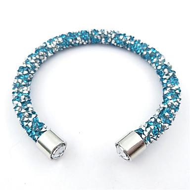 للمرأة للأطفال أساور حبلا حجر الراين قديم قوس قزح الطبيعة الصداقة مصنوع يدوي موضة الأحجار الكريمة الاصطناعية نايلون Circle Shape مجوهرات