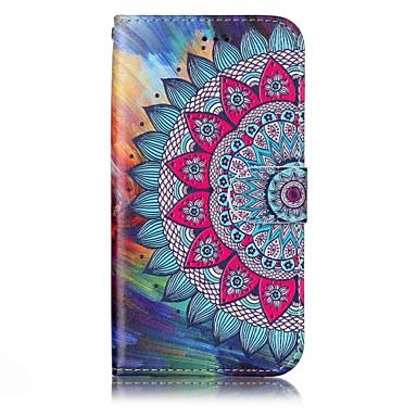 hoesje Voor Samsung Galaxy A5(2017) A3(2017) Portemonnee Kaarthouder met standaard Flip Reliëfopdruk Patroon Magnetisch Volledige