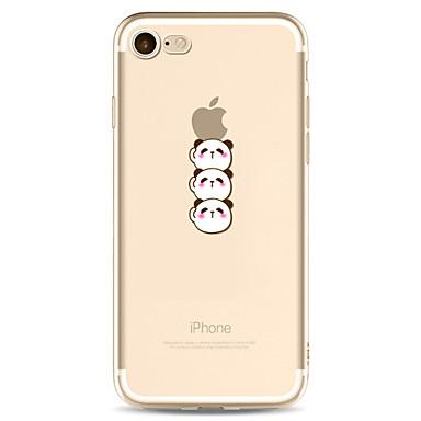 hoesje Voor Apple Transparant Patroon Achterkantje Cartoon Panda Zacht TPU voor iPhone 7 Plus iPhone 7 iPhone 6s Plus iPhone 6 Plus