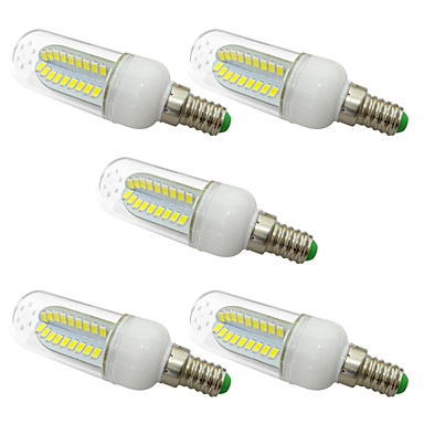 5W E14 LED Mais-Birnen T 80 LEDs SMD 5730 Warmes Weiß Weiß 1000