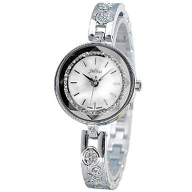 Dames Modieus horloge Kwarts Waterbestendig Legering Band Informeel Zilver Bruin Goud Goud Rose