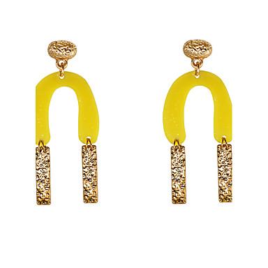 Dames Druppel oorbellen Sieraden Uniek ontwerp Natuur Meetkundig Eenvoudige Stijl Gesneden Elegant Kostuum juwelen Legering Geometrische