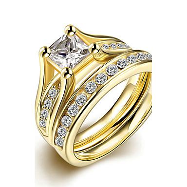 Damen Titanstahl Verlobungsring Ring Bandring - Kreisförmig Brautkleidung Modisch Simple Style Für Weihnachts Geschenke Hochzeit Party