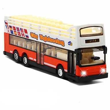 Spielzeug-Autos Aufziehbare Fahrzeuge Bus Spielzeuge Simulation Bus Metalllegierung Metal Stücke Unisex Geschenk