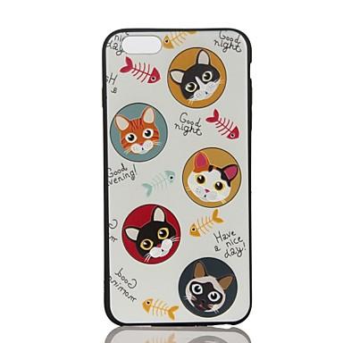 Pentru Carcase Huse Embosat Model Carcasă Spate Maska Pisica Moale TPU pentru Apple iPhone 7 Plus iPhone 7 iPhone 6s Plus iPhone 6 Plus
