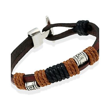 Heren Lederen armbanden Sieraden Natuur Modieus Kostuum juwelen Leder Legering Sieraden Voor Speciale gelegenheden  Sport