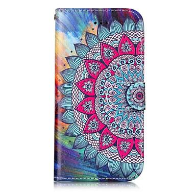 Hülle Für Apple iPhone X iPhone 8 Kreditkartenfächer Geldbeutel mit Halterung Flipbare Hülle Magnetisch Muster Geprägt Ganzkörper-Gehäuse