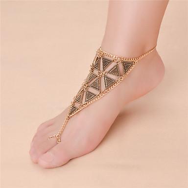 Infinit Sandale Desculț - Pentru femei Auriu / Argintiu Vintage / Modă Infinit Brățară Gleznă Pentru Zilnic / Casual