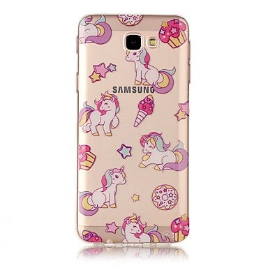 08003b1b81e For Samsung Galaxy J5 (2017) J5 Prime Case Cover Transparent Pattern Back  Cover Case