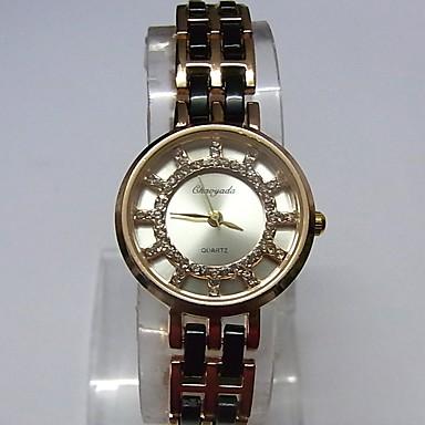 Damen Modeuhr Armbanduhr Armband-Uhr Quartz Legierung Band Glanz Punkt Bequem Weiß