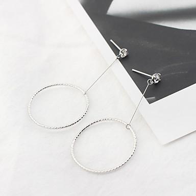 Pentru femei Cercei Picătură Zirconiu Cubic Euramerican Modă stil minimalist Articole de ceramică Circle Shape Bijuterii Zilnic Casual