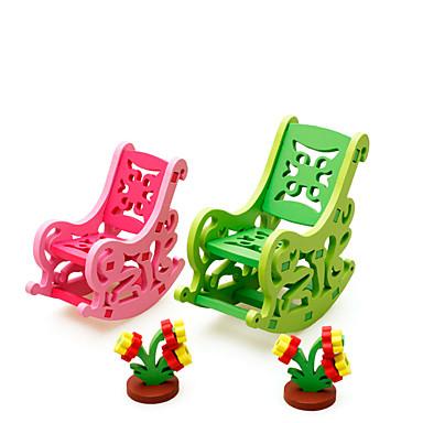 أحجار البناء قطع تركيب3D لعب تمثيلي مجموعات البناء ألعاب لهو خشبي للأطفال قطع