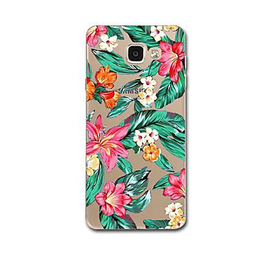 Hülle Für Samsung Galaxy Transparent Muster Rückseitenabdeckung Landschaft Blume Weich TPU für A7 (2017) A3(2016) A9 A8 A7 A5