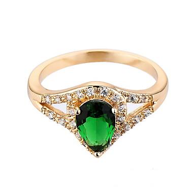 للمرأة خاتم زمردي تصميم فريد موضة euramerican في زمردي سبيكة مجوهرات مجوهرات من أجل زفاف مناسبة خاصة