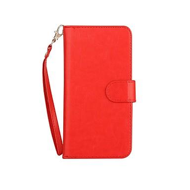 Pentru iphone 7 plus portocaliu titularul portofelului cu șurub cu suport pentru carcasă magnetică caz carcasă plină corp solid culoare