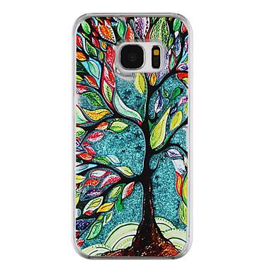 Hülle Für Samsung Galaxy S8 Plus S8 Mit Flüssigkeit befüllt Transparent Muster Rückseitenabdeckung Durchsichtig Baum Glänzender Schein