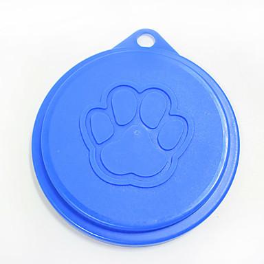L قط كلب الطاسات وزجاجات حيوانات أليفة السلطانيات والتغذية المحمول لون عشوائي