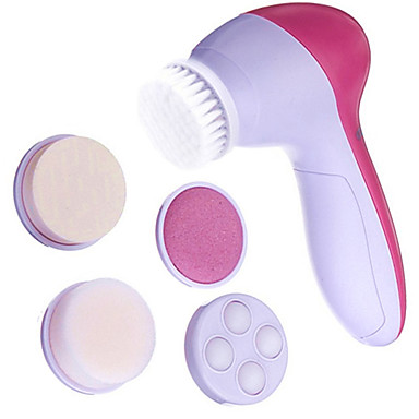5in1 Multi-functional Cuticle Remover Facial Pore Cleaner&Facial Massager with 5 Head(Powered by 2 AA Battery)