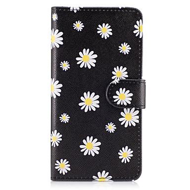 Hülle Für Samsung Galaxy Kreditkartenfächer Geldbeutel mit Halterung Flipbare Hülle Ganzkörper-Gehäuse Blume Hart PU-Leder für On7(2016)