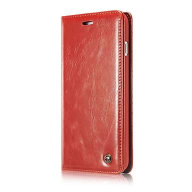 hoesje Voor Apple iPhone 7 Plus iPhone 7 Schokbestendig met standaard Flip Volledig hoesje Effen Kleur Hard aitoa nahkaa voor iPhone 7