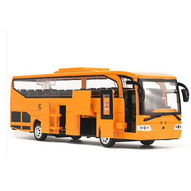 Speelgoedauto's Bus Speeltjes Muziek en licht Simulatie LED verlichting Automatisch Bus Metaallegering 1 Stuks Unisex Kinderdag Verjaardag