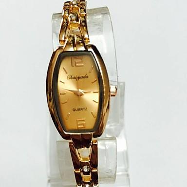 للمرأة ساعة المعصم ساعه اسورة صيني كوارتز أشابة فرقة عادية ذهبي روزي
