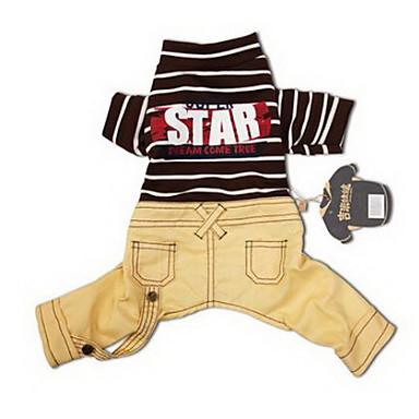 Hund Overall Hundekleidung Lässig/Alltäglich Streifen Khaki