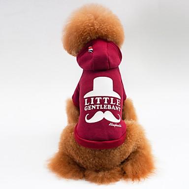Katze Hund Mäntel T-shirt Kapuzenshirts Hundekleidung Lässig/Alltäglich Sport Buchstabe & Nummer Grau Rot