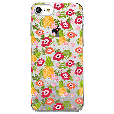 Hülle Für Apple iPhone 7 Plus iPhone 7 Transparent Muster Rückseite Blume Frucht Weich TPU für iPhone 7 Plus iPhone 7 iPhone 6s Plus