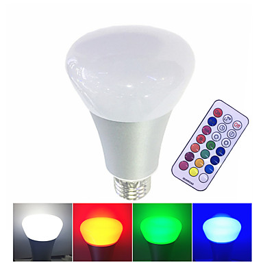 10W 600 lm E27 Bulbi LED Inteligenți led-uri LED Putere Mare Intensitate Luminoasă Reglabilă Telecomandă Alb Cald RGB Alb AC 85-265V
