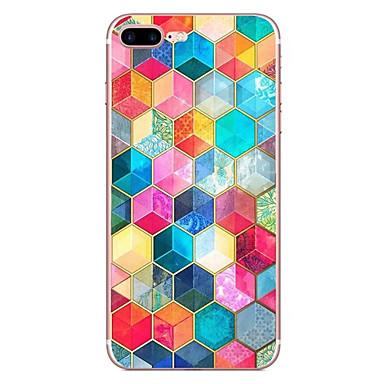 Hülle Für Apple iPhone X iPhone 8 Muster Rückseite Geometrische Muster Weich TPU für iPhone X iPhone 8 Plus iPhone 8 iPhone 7 Plus iPhone