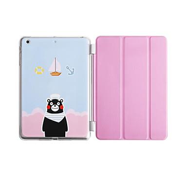 Voor Hoesje cover met standaard Flip Patroon Origami Volledige behuizing hoesje Cartoon Hard PU-leer voor AppleiPad Pro 9.7 '' iPad Air 2