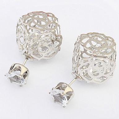 Damen Ohrstecker Tropfen-Ohrringe Kreolen Synthetischer Diamant Personalisiert Religiöser Schmuck Geometrisch Einzigartiges Design Logo
