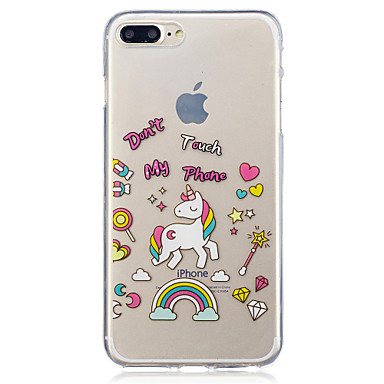 hoesje Voor Apple iPhone 7 Plus iPhone 7 IMD Transparant Patroon Achterkant Eenhoorn Zacht TPU voor iPhone 7 Plus iPhone 7 iPhone 6s Plus