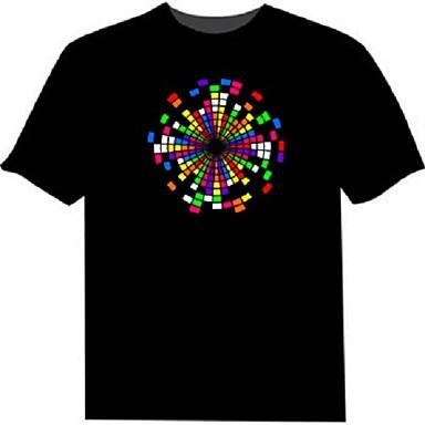 1b5d9a87 cheap LED T-shirts-LED T-shirts 100% Cotton 2 AAA Batteries